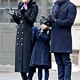 Princess Estelle's Navy Look at Her Mom's Name Day Celebration in 2018