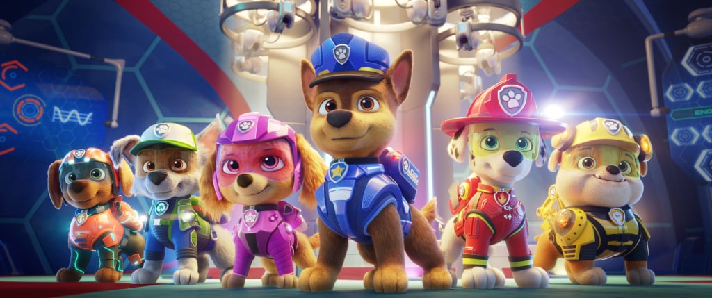 """Ever since PAW Patrol: The Movie was announced in 2020, we've been eagerly awaiting more details about the animated film, which hits theaters this August. The voice cast announced last October is absolutely stacked — it includes Dax Shepard, Kim Kardashian, Yara Shahidi, Marsai Martin, and more — and now we're getting a first peek at the film in the form of still photos, both of the original PAW Patrol pups, as well as the movie's new characters. Keep reading to see all of the sneak peek photos before the official trailer is dropped next week (and check out the other family movies releasing in 2021)!      Related:                                                                                                                                Watch Dax Shepard Welcome Parents to the Seventh Circle of Hell, aka the """"PAW Patrol Years"""""""