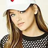 Embroidered Heart Cap