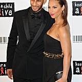 PopSugar 100 Honoree Alicia Keys Dresses Up For a Charitable Date Night With Swizz