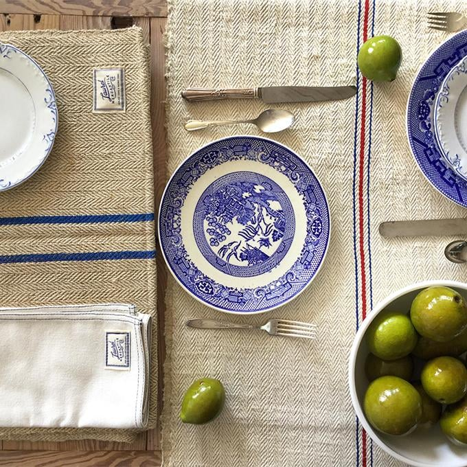 French Grain Sack Table Runner ($139)