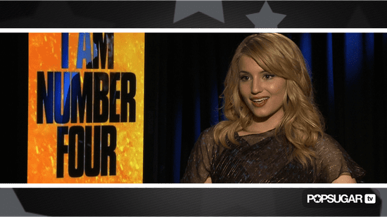 Video of Dianna Agron Promoting I Am Number Four and Talking Golden Globe Glee Win