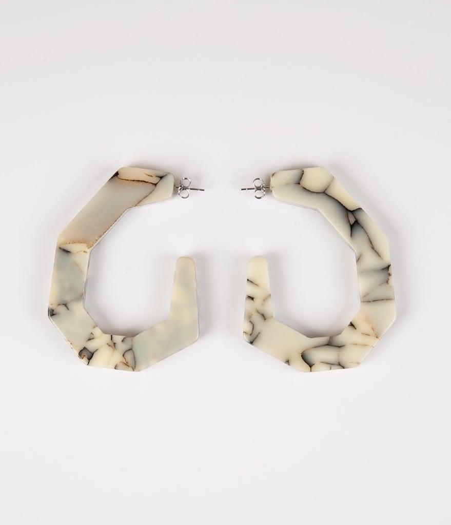 Rachel Comey White Marble Factor Earrings