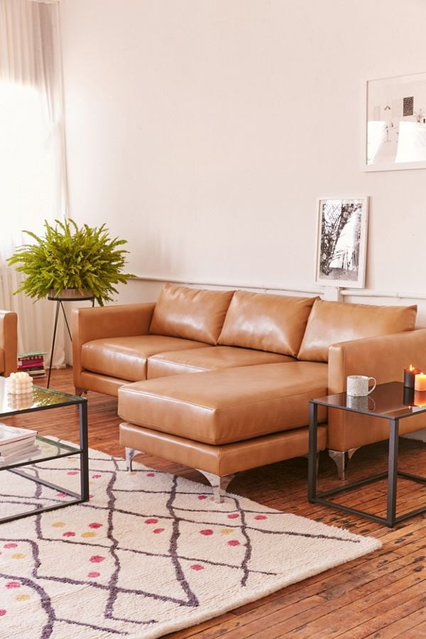 Chamberlin Recycled Leather Sectional Sofa Best