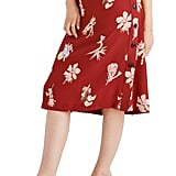 Madewell Bird of Paradise Side-Button Skirt