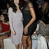 Jessica Biel and Ciara sat front row during Valentino's Paris Fashion Week presentation in October 2011.