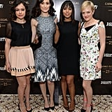 Tatiana Maslany, Emmy Rossum, Kerry Washington, and Elisabeth Moss arrived at Variety's Emmy Studio.