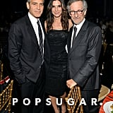George Clooney met up with Sandra Bullock and Steven Speilberg.