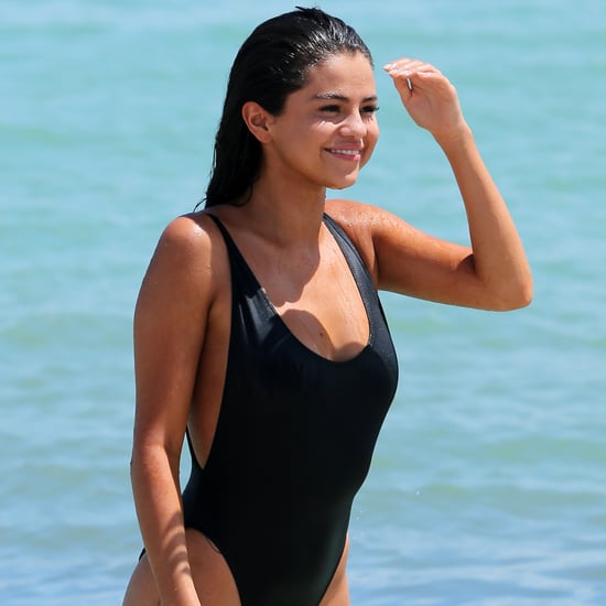 Selena Gomez Wearing a Swimsuit in Miami Pictures