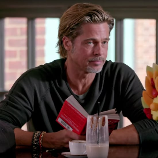 Brad Pitt and Jimmy Fallon Send Each Other Food at a Bar