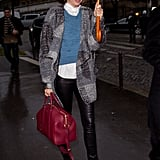 Miranda Kerr attended Paris Fashion Week.