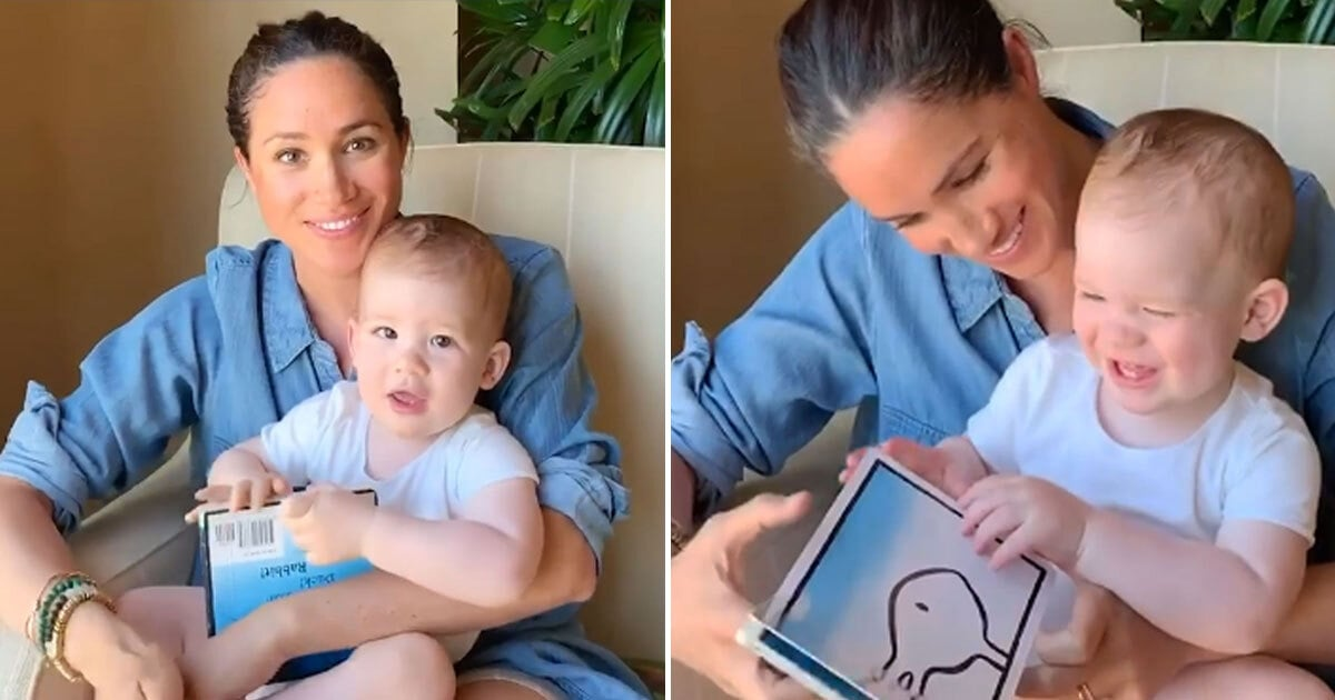 meghan and harry share video for archie s 1st birthday popsugar celebrity meghan and harry share video for archie
