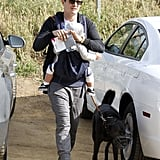 Orlando Bloom took his son Flynn and dog Sidi for a recreational hike in LA in March 2012. He adopted Sidi when he was shooting Kingdom of Heaven on location in Morocco.