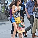 Cobie Smulders walked in NYC with her daughter Shaelyn.