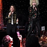 Brandi Carlile and Cyndi Lauper at Clive Davis's 2020 Pre-Grammy Gala in LA