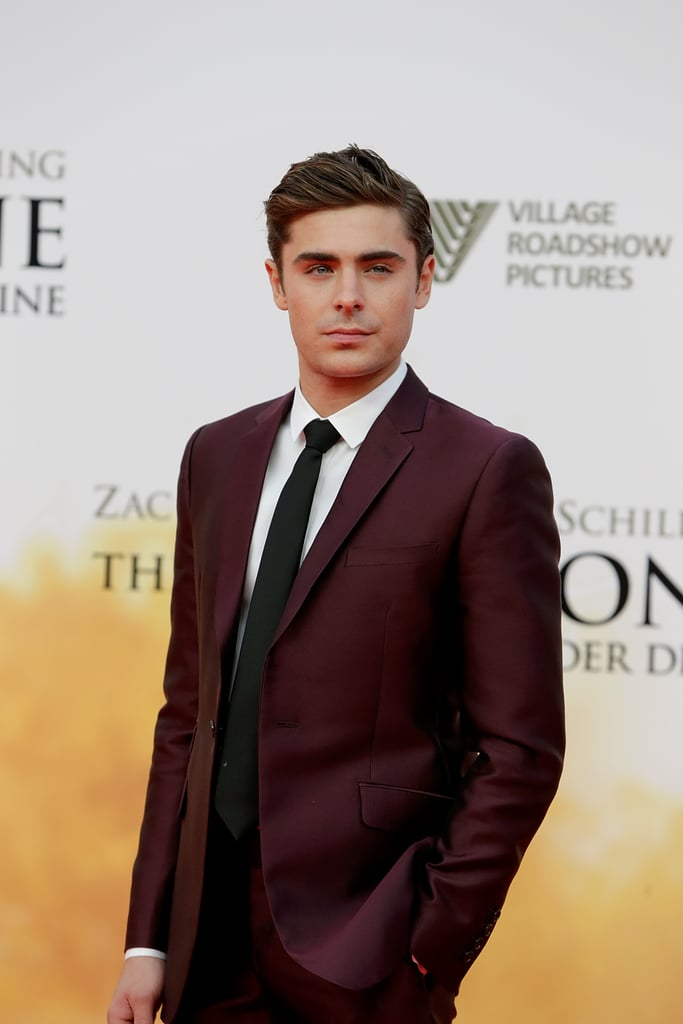 Zac Efron looked handsome as ever at the Berlin premiere of The Lucky One.
