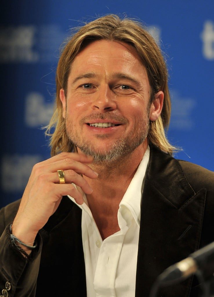 Brad Pitt smiled for the crowd.