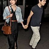 Keira Knightley and James Righton were hand in hand celebrating their engagement out in London.