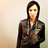 PopSugar Shop's Julia sported Lisbeth Salander's tough look from The Girl With the Dragon Tattoo.