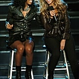 Kelly and Bey rocked the house performing on Good Morning America in 2004 with Michelle (not pictured).