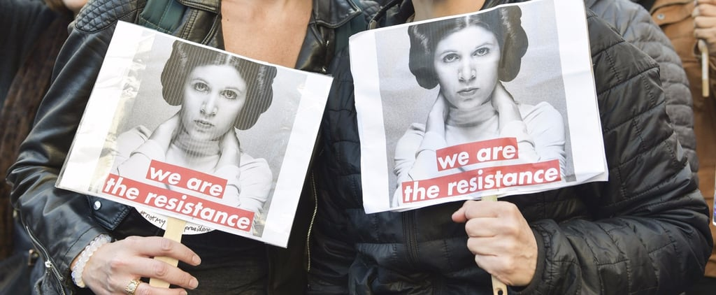 Princess Leia Resistance Signs at Women's March