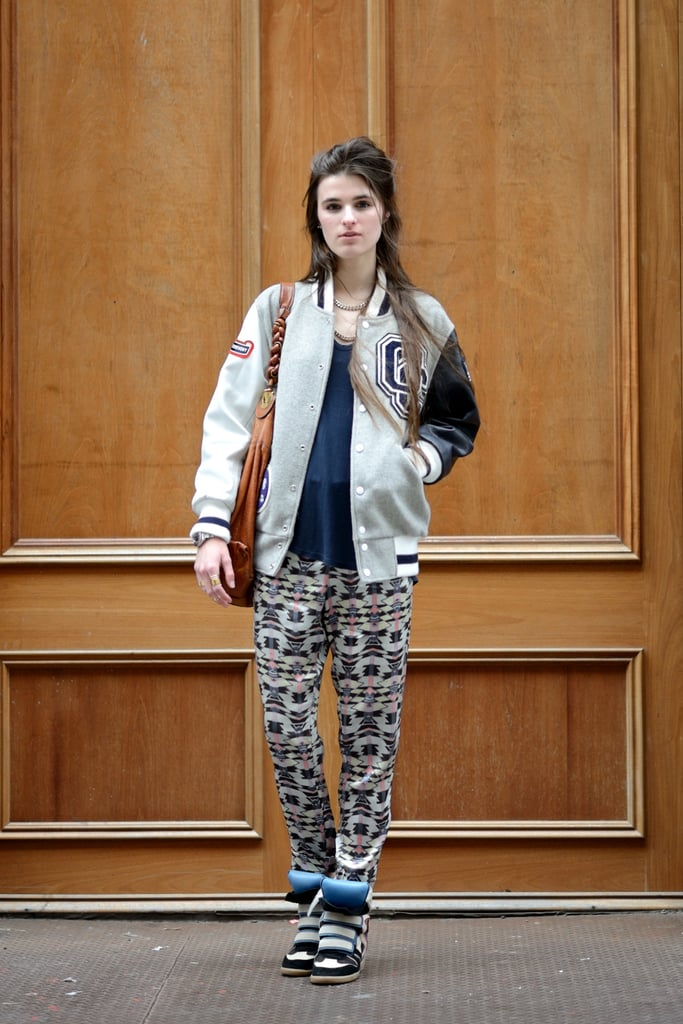 Prints, a varsity jacket, and high-tops all living in harmony. Source: Le 21ème | Adam Katz Sinding
