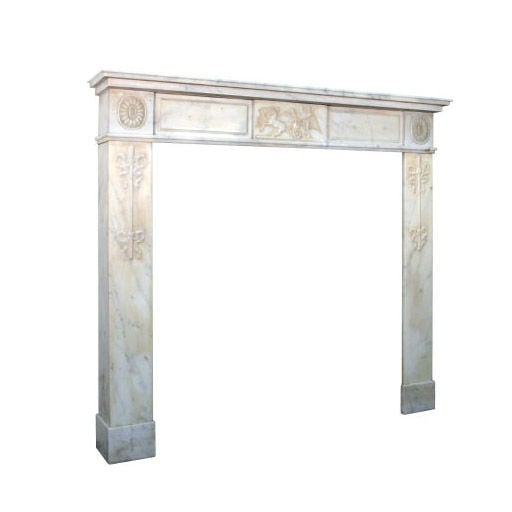 1STDIBS.COM - Urban Archaeology - Neo-Classical White Marble Mantel