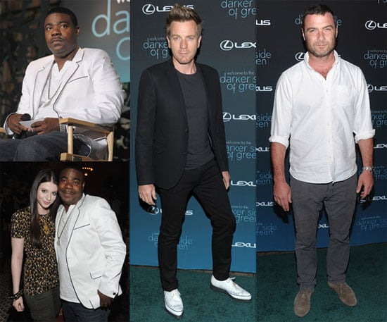 Liev Schreiber, Rumer Willis, Michelle Trachtenberg, Tracy Morgan and Ewan MacGregor at a Green Debate
