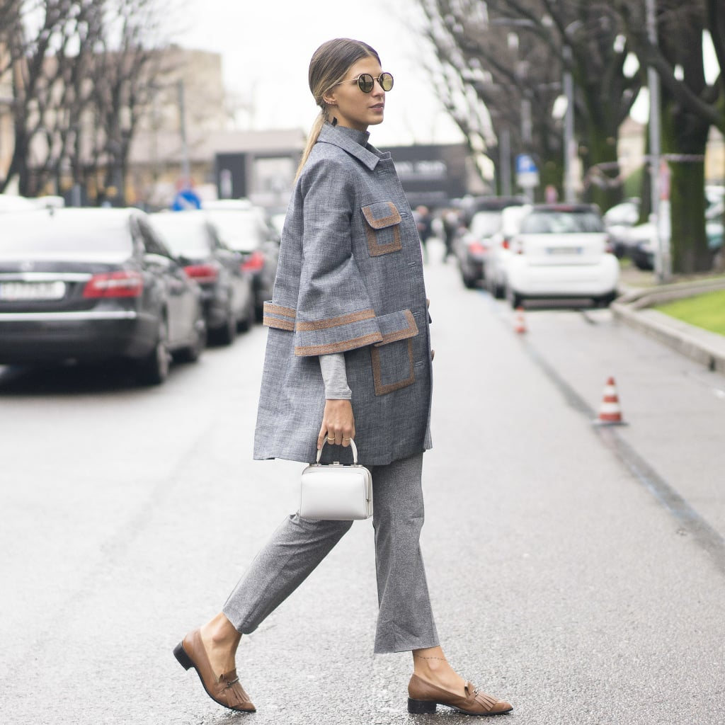 Tassled Flats and Gray, Bell-Shaped Separates