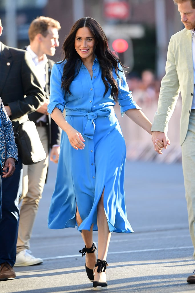 Meghan Markle Wearing a Veronica Beard Shirtdress