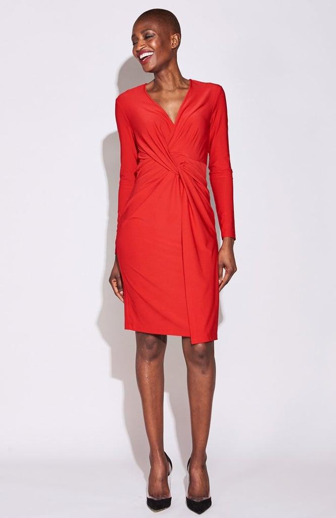 Serena Williams Twist Front Dress in Red