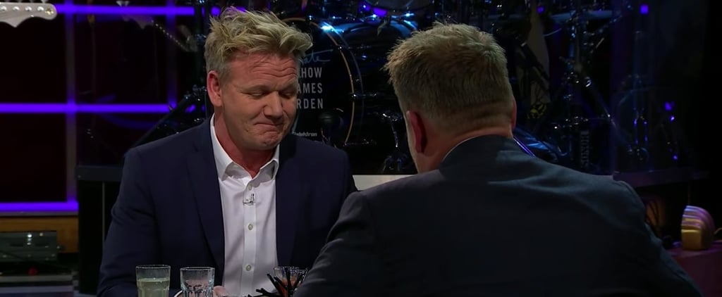 "Gordon Ramsay on James Corden ""Spill Your Guts"" Video"