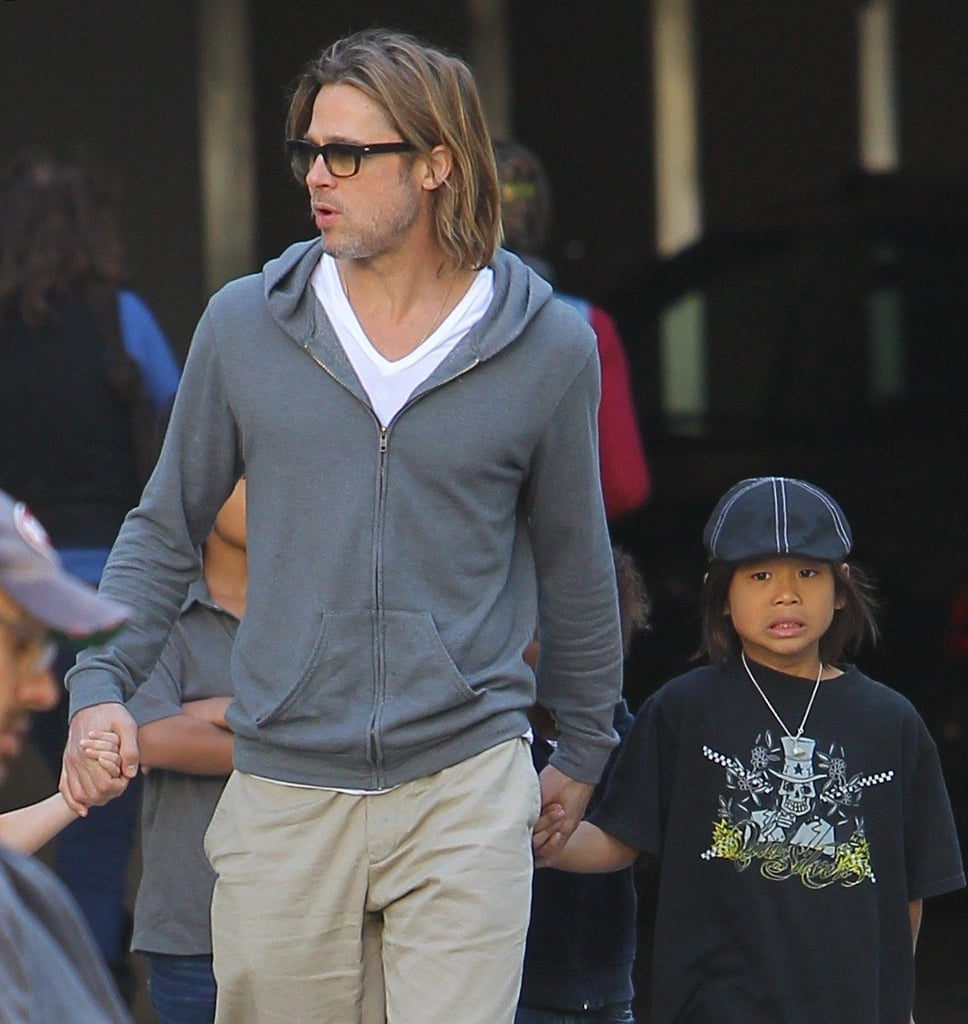 Brad Pitt just missed ex-wife Jennifer Aniston at a LA movie theater showing Hugo.
