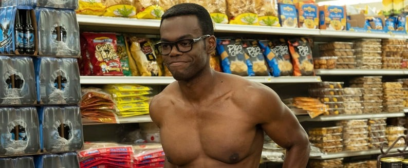Reactions to Shirtless Chidi Adagonye on The Good Place