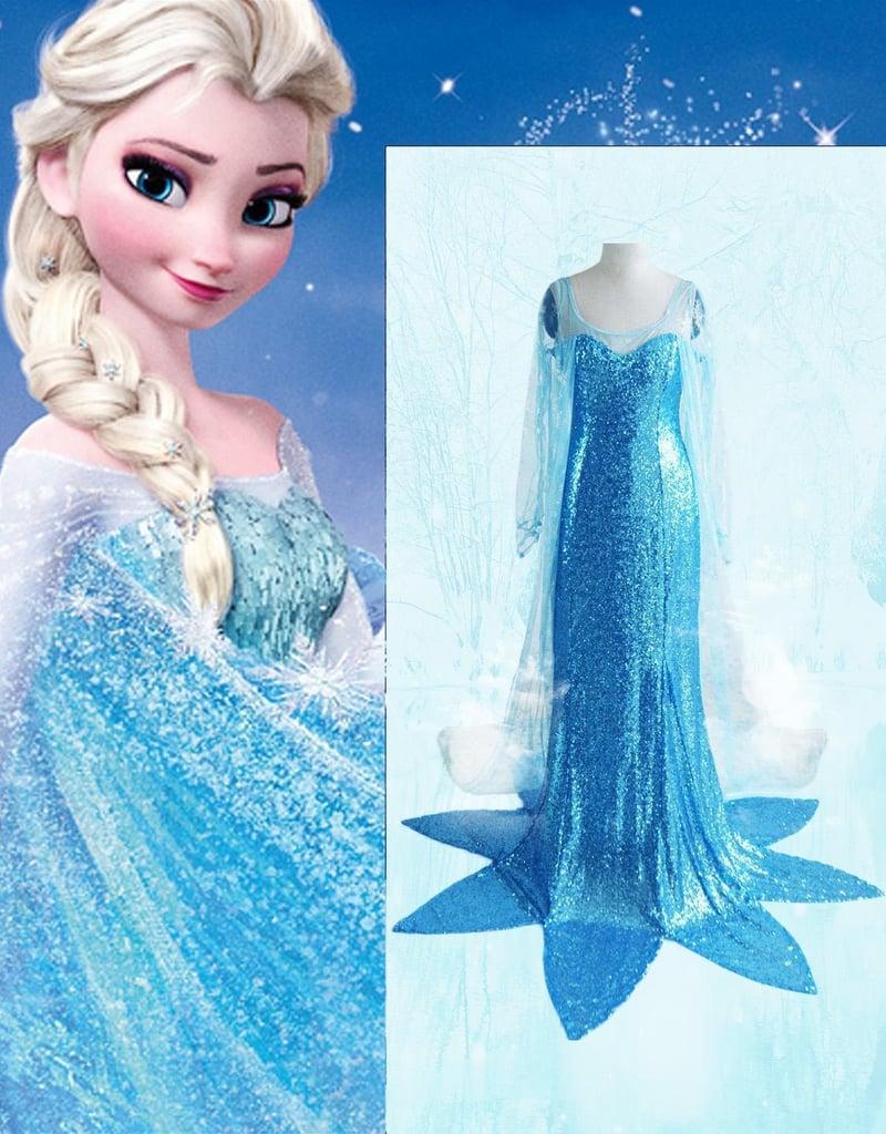 Princess Elsa Fancy Dress Costume
