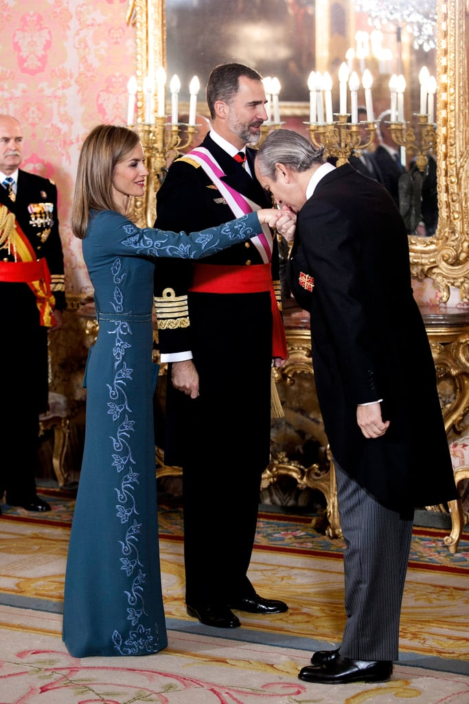 The Spanish royals attended the annual military Easter ceremony at the Royal Palace in Madrid on Tuesday. The event includes a speech from the king and honours distinguished military personnel. It was the first 2015 royal outing for both Queen Letizia and King Felipe VI of Spain after wrapping up their official 2014 duties on Christmas Eve, though they also sent out a special Christmas card. The couple made headlines last year when they took over the Spanish throne, and Queen Letizia quickly became everyone's new royal obsession. Check out their latest royal event, and then take a look at Queen Letizia's best moments.