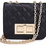 Pink Poodle Boutique Quilted Box Handbag