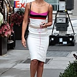 Jessica Alba Walking in White Dress in NYC | Pictures