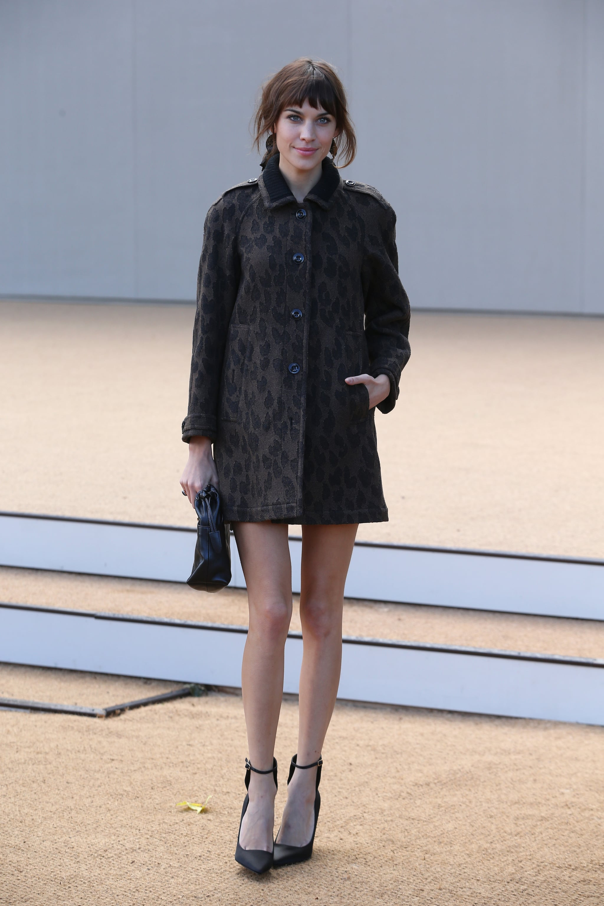 Alexa Chung worked her mile-long legs at London Fashion ...