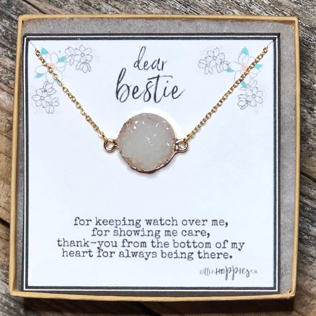 Dainty Stone Friendship Necklace