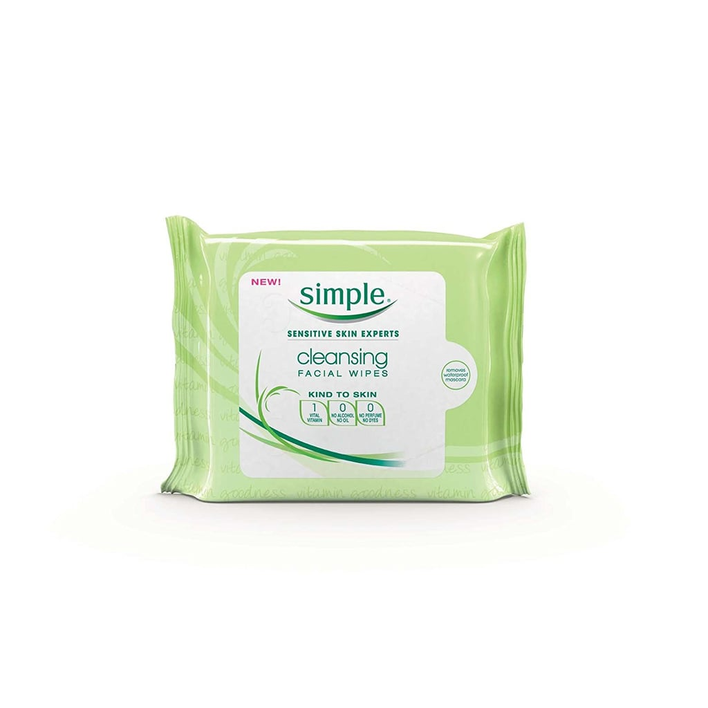 """""""Working out with makeup on can lead to clogged pores. I keep wipes with me so it's simple to take my makeup off before a workout."""" Adriana recommends: Simple Skincare Cleansing Facial Wipes ($6)"""