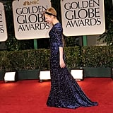 Michelle Williams won a best actress Golden Globe in a blue Jason Wu dress.