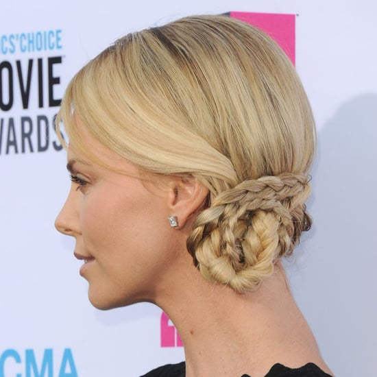Charlize Theron's Braided Hair at Critics' Choice 2012