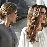 In a Low Knot With Queen Rania of Jordan