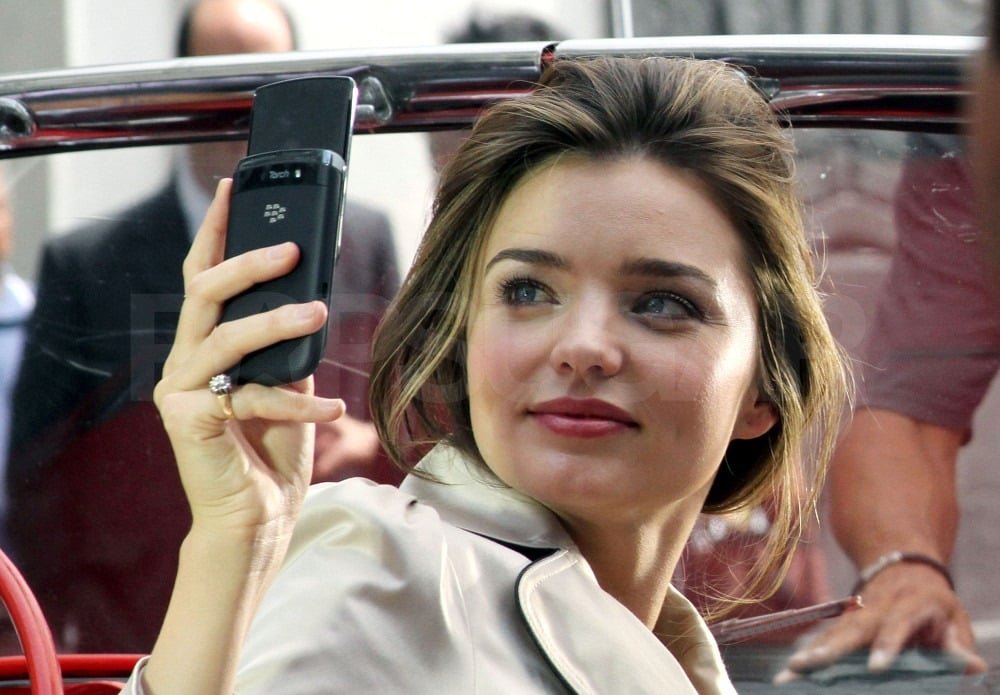 Miranda snapped a photo with her phone.