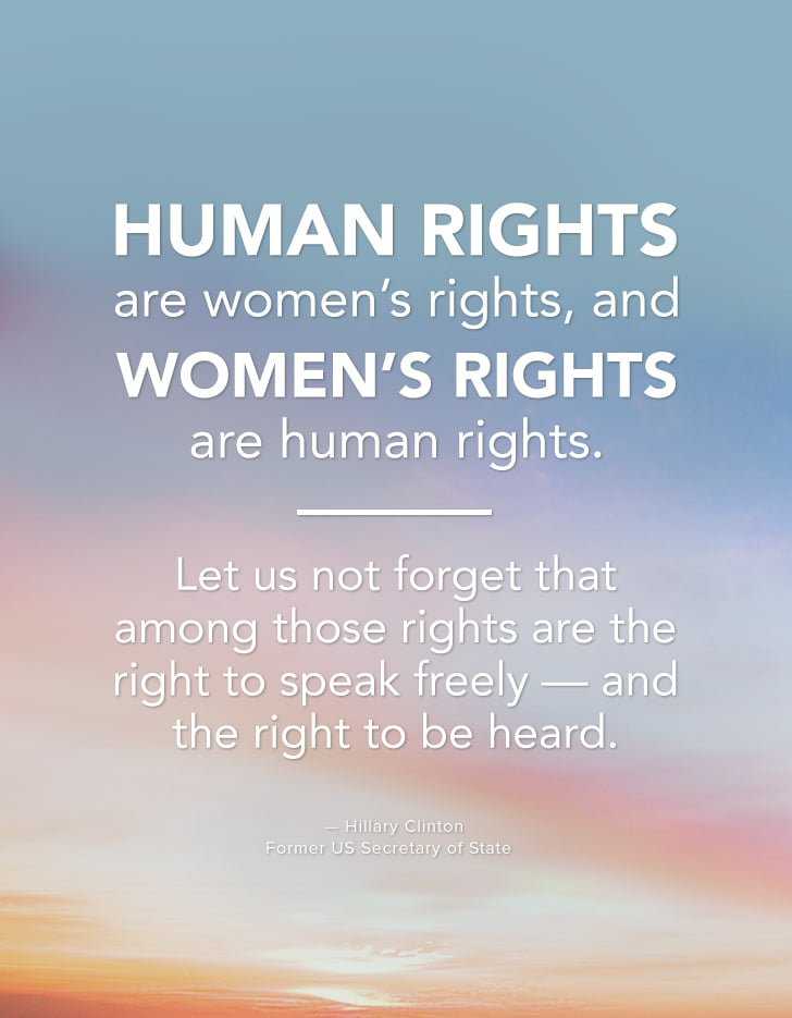 Human Rights Are Women's Rights And Women's Rights Are Human Mesmerizing Women's Rights Quotes