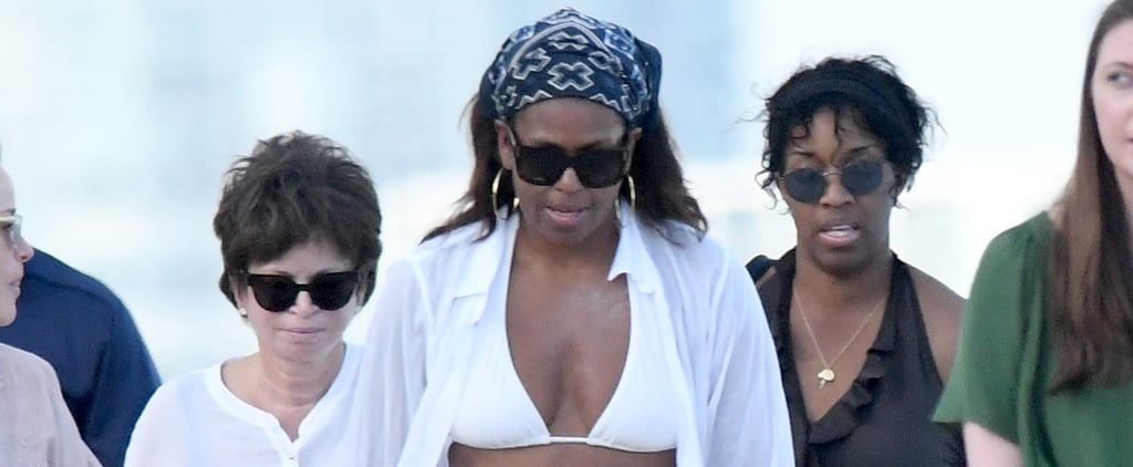 Michelle Obama Didn't Just Go to Miami, She Wore the Most Classic Bikini on the Beach