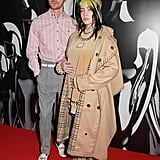 Finneas O'Connell and Billie Eilish at the 2020 BRIT Awards in London