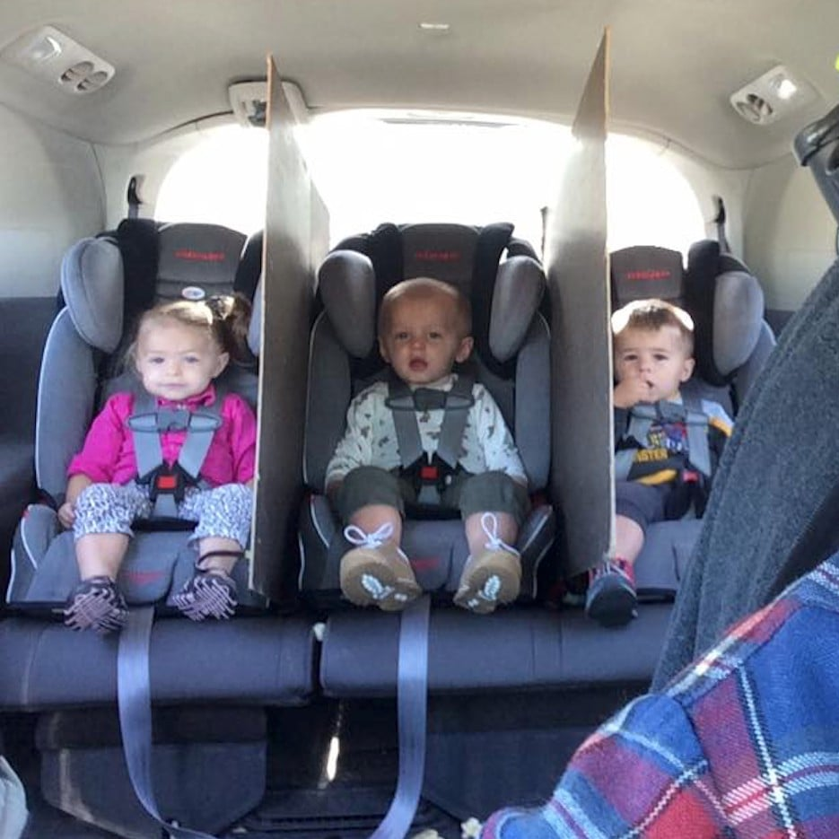 This Dads Genius Hack To Keep His Triplets From Fighting In The Car Is Going Viral
