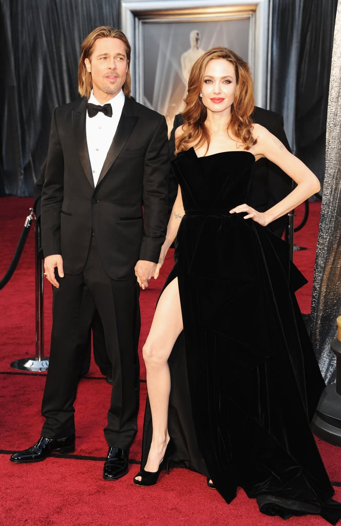 Brad Pitt and Angelina Jolie arriving at the Academy Awards.